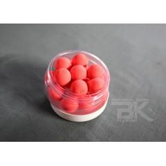 Pop up vyvážené  boilies, fluoro červená neutrál